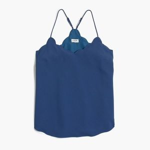 Blue J Crew Scalloped Tank Top 2